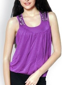 fashley london women purple top
