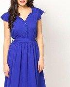 eavan blue fit & flare dress