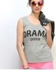 drama queen muscle tee grey