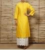 yellow cotton kurta