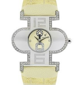 carpe diem women cream coloured dial watch