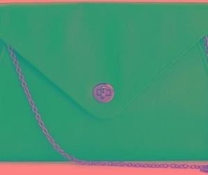 oversized blue envelope clutch