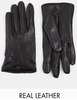asos leather gloves with touch screen detail
