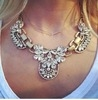 exaggerated luxurious choker necklace