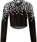 mayfly by munkee.see.munkee.doo black leaf print crop shirt