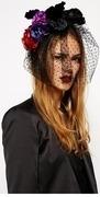 asos premium gothic halloween rose flower headband