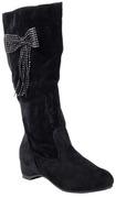 calflength black boots