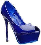 blue stilletoes