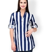 stilestreet women blue & white striped tunic