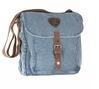 honeybadger indigo and brown messenger bag