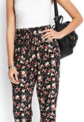 soft floral woven joggers