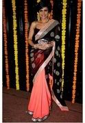 bollywood sarees mandira bedi designer saree on diwali
