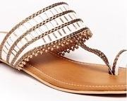 do bhai women white sandals