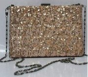 getwrapped polyurethane classy womens handbag (gold) prs62467