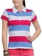 yepme striped womens polo neck tshirt