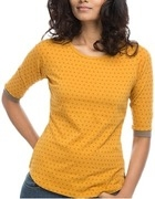 printed yellow t shirt