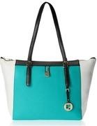 da milano womens shoulder bag (aqua and black) (lb2055)