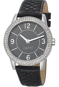 esprit timewear ladies watch heron glam black 104352001