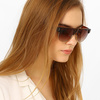 UV-Protected Clubmaster Sunglasses