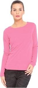 Hbhwear Solid Women's Round Neck Pink T-Shirt