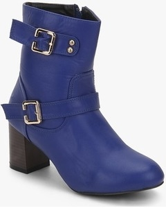 Nell Blue Ankle Length Boots