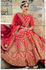 Auspicious Magenta Colored Embroidered Art Silk Bridal Lehenga Choli 407B