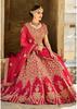 Outstanding Red Colored Embroidered Art Silk Bridal Lehenga Choli 408B