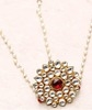 red & white stone embellished sterling silver matha patti
