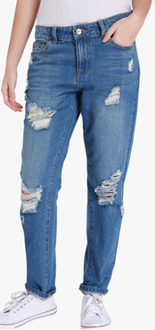 Blue Washed Mid Rise Skinny Jeans